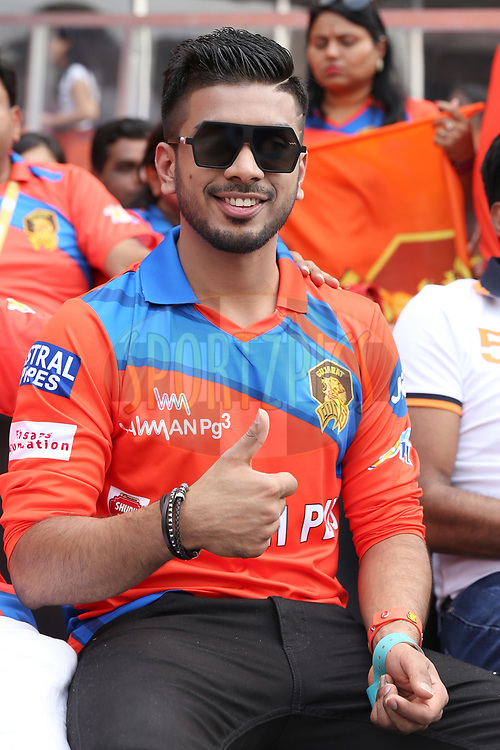 Keshav Bansal owner of Gujarat Lions during match 6 of the Vivo 2017 Indian Premier League between the Sunrisers Hyderabad and the Gujarat Lions held at the Rajiv Gandhi International Cricket Stadium in Hyderabad, India on the 9th April 2017<br /> <br /> Photo by Faheem Hussain - IPL - Sportzpics
