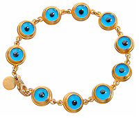 third eye chakra bracelet in blue and gold