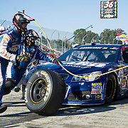 October 27, 2013:  Sprint Cup Series driver Dale Earnhardt Jr. (88) pit crew service the car during a caution at the Sprint Cup Series Goody's Headache Relief Shot 500 at Martinsville Speedway, Martinsville, VA. (Credit Image: © Kostas Lymperopoulos/Cal Sport Media)