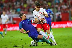 01-06-2016 POL: Polen - Nederland, Gdansk<br /> Oefenwedstrijd dat met 2-1 wordt gewonnen / Mariusz Stepinski (POL), Jeffrey Bruma (NED) <br /> <br /> ***NETHERLANDS ONLY***