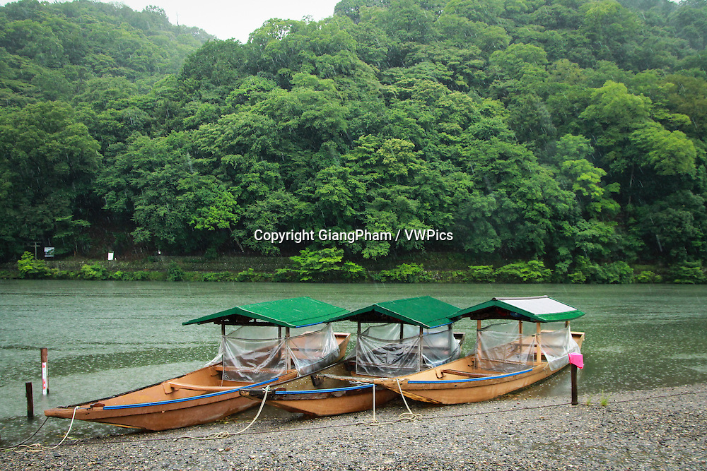 Tourist boat in Kyoto Prefectures, Japan