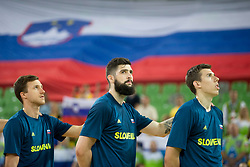 Ziga Dimec of Slovenia during basketball match between Slovenia and Montenegro in Round #6 of FIBA Basketball World Cup 2019 European Qualifiers, on July 1, 2018 in Arena Stozice, Ljubljana, Slovenia. Photo by Urban Urbanc / Sportida