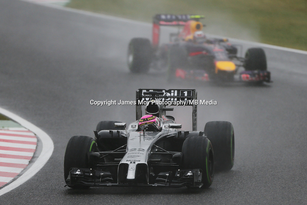 Jenson Button (GBR) McLaren MP4-29.<br /> Japanese Grand Prix, Sunday 5th October 2014. Suzuka, Japan.