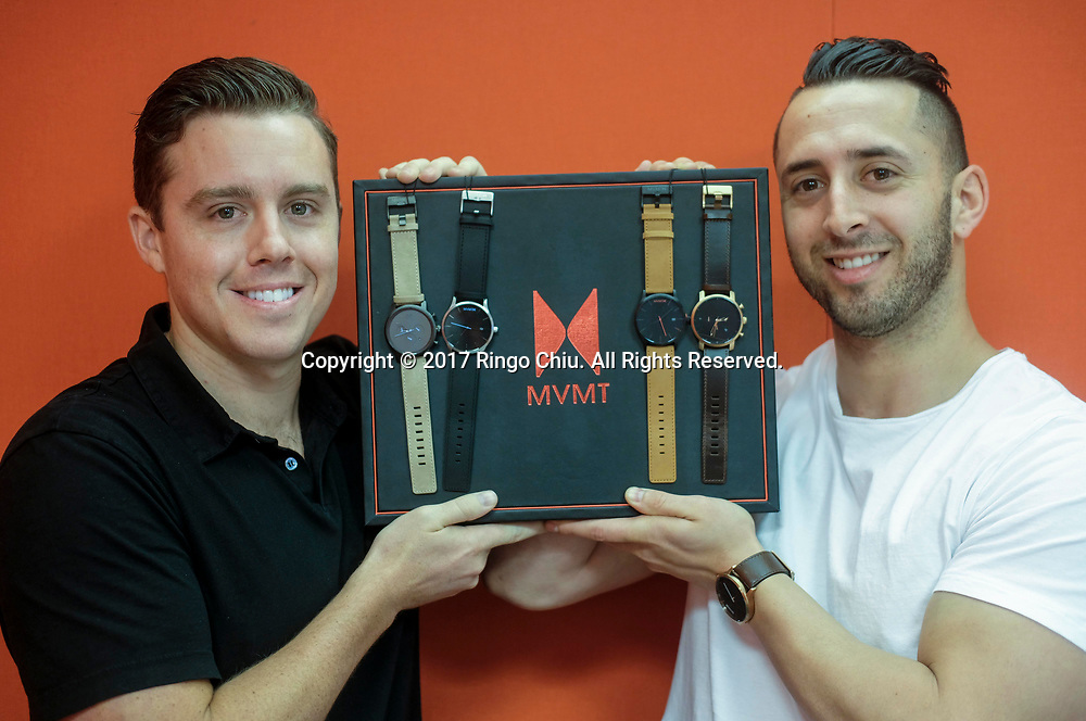 Jake Kassan, right, and Kramer LaPlante, co-founders of MVMT Watches.(Photo by Ringo Chiu)<br /> <br /> Usage Notes: This content is intended for editorial use only. For other uses, additional clearances may be required.