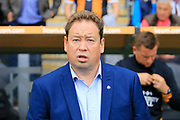 Hull City manager Leonid Slutsky during the EFL Sky Bet Championship match between Hull City and Burton Albion at the KCOM Stadium, Kingston upon Hull, England on 12 August 2017. Photo by Richard Holmes.
