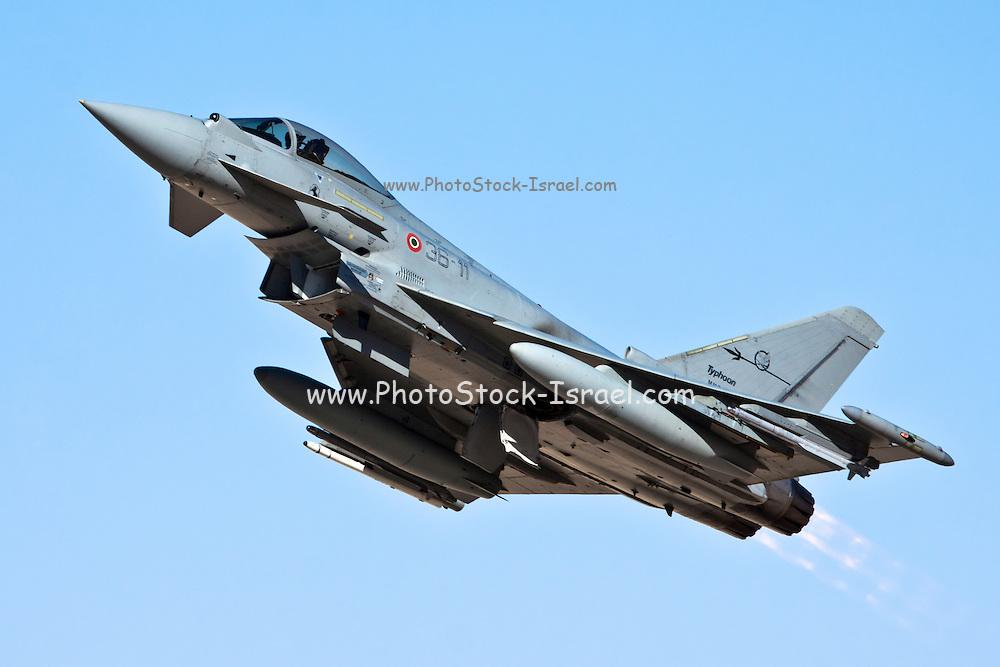Italian Air force Eurofighter Typhoon in flight
