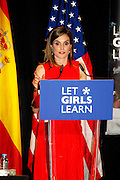 MADRID, SPAIN, 2016, JUNE 30 <br /> <br /> Queen Letizia, accompanied by His Excellency, the First Lady of the United States of America, in the act of Let Girls Learn initiative in the ship Matadero Madrid<br /> ©Exclusivepix Media