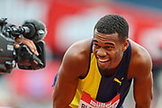 Akeem BLOOMFIELD of Jamaica, winner of the Men's 400m during the Muller Anniversary Games 2019 at the London Stadium, London, England on 21 July 2019.