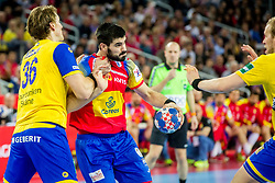 Eduard Gurbindo (ESP) during handball match between National teams of Spain and Sweden in Final match of Men's EHF EURO 2018, on January 28, 2018 in Arena Zagreb, Zagreb, Croatia . Photo by Ziga Zupan / Sportida