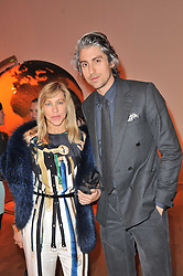MAIA NORMAN and GEORGE LAMB at the TOD'S Art Plus Drama Party at the Whitechapel Gallery, London on 24th March 2011.