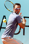 Viktor Troicki during the Madrid Open at Manzanares Park Tennis Centre, Madrid<br /> Picture by EXPA Pictures/Focus Images Ltd 07814482222<br /> 02/05/2016<br /> ***UK &amp; IRELAND ONLY***<br /> EXPA-ESP-160502-0094.jpg