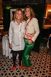 Left to right, Lady Rogers and Tara Bernerd at a party to celebrate the publication of Place by Tara Bernerd held at il Pampero at The Hari, 20 Chesham Place, London, England. 8 March 2017.