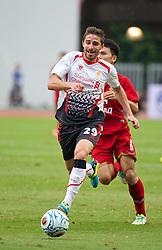 BANGKOK, THAILAND - Sunday, July 28, 2013: Liverpool's Fabio Borini in action against Thailand XI during a preseason friendly match at the Rajamangala National Stadium. (Pic by David Rawcliffe/Propaganda)