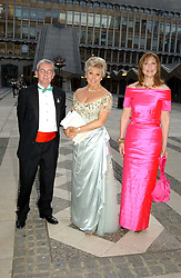 Left to right, MR JOHN GREY, ANGELA RIPPON and MARIA SHAMMAS at a tribute to Luciano Pavarotti in aid of the British Red Cross held at The Guildhall, City of London on 6th June 2005<br />NON EXCLUSIVE - WORLD RIGHTS