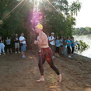 Triathlon, Lake Quannapowitt, Wakefield, Massachusetts