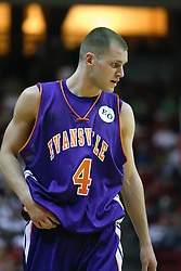 30 January 2007: Kyle Anslinger. The Purple Aces of Evansville folded the final 2 minutes of play and handed the game to Illinois State University Redbirds by a score of 65-61at Redbird Arena in Normal Illinois.