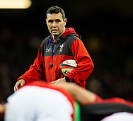 Attack Coach Stephen Jones of Wales<br /> <br /> Photographer Simon King/Replay Images<br /> <br /> Friendly - Wales v Barbarians - Saturday 30th November 2019 - Principality Stadium - Cardiff<br /> <br /> World Copyright © Replay Images . All rights reserved. info@replayimages.co.uk - http://replayimages.co.uk