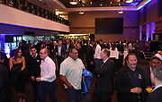 Guests mingle during the Auckland Rugby awards night held at Eden Park on the 25th of October 2017. <br /> Credit; Peter Meecham/ www.photosport.nz