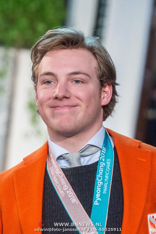 NLD/Den Haag/20180323 - Huldiging Olympische en Paralympische medaillewinnaars, Chris Vos