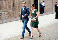 3-6-2014 - APELDOORN  -  jan taminiau komt aan met zijn zus  Albert II of Monaco arrives at the loo with King Willem Alexander for the opening of the exhibition of Grace Kelly in the loo. Prince Albert II of Monaco in the Netherlands for a two-day visit. COPYRIGHT ROBIN UTRECHT