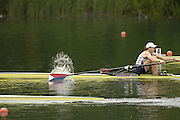 2006 FISA World Cup, Lucerne, SWITZERLAND, 07.07.2006. Women's Single sculls heat,  centre, USA W1X,  Michelle GUERETTE,  Photo  Peter Spurrier/Intersport Images email images@intersport-images.com.[Friday Morning]...[Mandatory Credit Peter Spurrier/Intersport Images... Rowing Course, Lake Rottsee, Lucerne, SWITZERLAND.