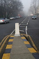 Traffic island in Ballsbridge Dublin Ireland