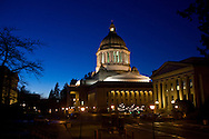 Washington State Capitol capitol in Olympia, Wash. on Sunday, Dec. 7, 2008. (Photo/John Froschauer)