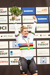 March 4, 2018 - Apeldoorn, Netherlands - Nicky Degrendele (BEL) - Women's keirin .during UCI Track Cycling World Championships Apeldoorn 2018, in Apeldoorn, Netherlands, on March 4, 2018. (Credit Image: © Foto Olimpik/NurPhoto via ZUMA Press)