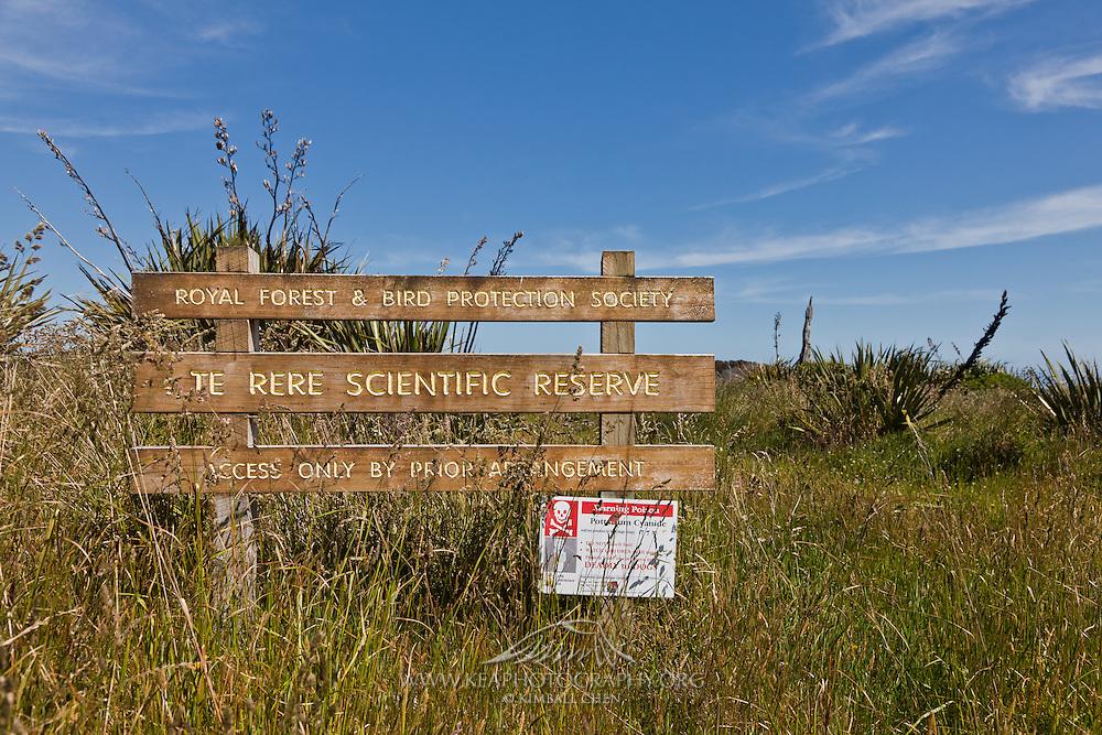 Te Rere Scientific Reserve, Catlins, New Zealand