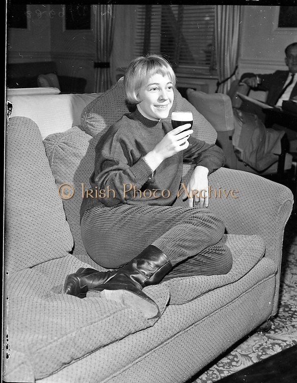 French Actress Nicole Berger at the Shelbourne Hotel..07.01.1960