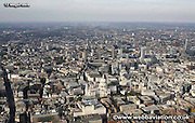 aerial photograph of the City of London England UK