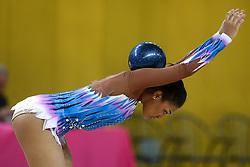 Samia Hassan Hussain of Qatar at rhythmic gymnastics for 15th Slovenian Challenge Tournament 2013, on November 16, 2013, in Dvorana Sentvid, Ljubljana, Slovenia. (Photo by Matic Klansek Velej / Sportida.com)