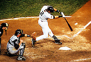 Derek Jeter  hits a dramatic,  11th inning walk off game winning home run off of Arizona reliver Byung-Hyun Kim during game 4 of the 2001 World Series.