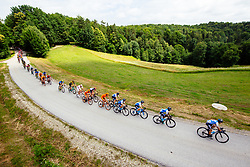 Cyclists during 1st Stage of 25th Tour de Slovenie 2018 cycling race between Lendava and Murska Sobota (159 km), on June 13, 2018 in  Slovenia. Photo by Vid Ponikvar / Sportida