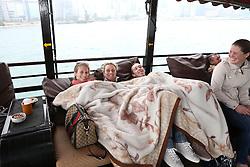 Riders Boat trip Hong Kong harbour<br /> Eleonore Lambillotte, Ann Sophie Godart, Rik Hemeryck<br /> CSI 5* Longines Hong Kong Masters 2013<br /> © Hippo Foto - Counet Julien