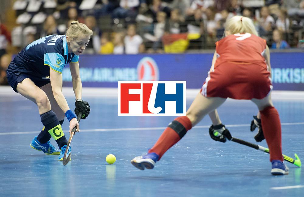 BERLIN - Indoor Hockey World Cup<br /> Bronze: Ukraine - Belarus<br /> foto: Yana Vorushylo and Ryta Batura <br /> WORLDSPORTPICS COPYRIGHT FRANK UIJLENBROEK