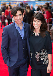 World premiere of Postman Pat.<br /> Stephen Mangan with his wife Louise Delamere arrive for the world premiere of Postman Pat at Leicester Square, London, United Kingdom. Sunday, 11th May 2014. Picture by Daniel Leal-Olivas / i-Images
