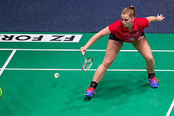 Tamara van der Hoeven in action during the Dutch Championships Badminton on February 2, 2020 in Topsporthal Almere, Netherlands