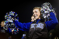 Felicia cheering for the home crowd during the Coeur d'Alene High junior varsity win Thursday, Oct. 14, 2010 over Lewiston High.