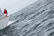 Wild Horses sailing in the Marblehead Corinthian Classic Yacht Regatta.