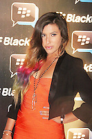 Gabriella Ellis was attending Blackberry's BBM Event - a celebration of the smartphone's free instant messaging app. The Bankside Vaults, London, UK. April 03, 2012. (Photo by Brett Cove)