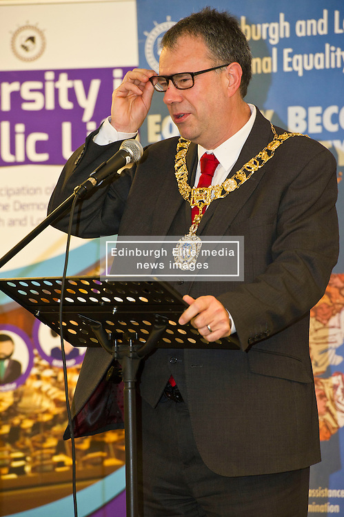 Pictured: Edinburgh Lord Provost Donald Wilson<br /> <br /> SNP Brexit minister Mike Russell spoke at an Edinburgh and Lothians Regional Equality Council event which aimed to facilitate discussion between service providers in the public and third sectors, and asylum seekers and refugees in order to hear about the circumstances and needs.<br /> <br /> Ger Harley | EEm 6 December 2016