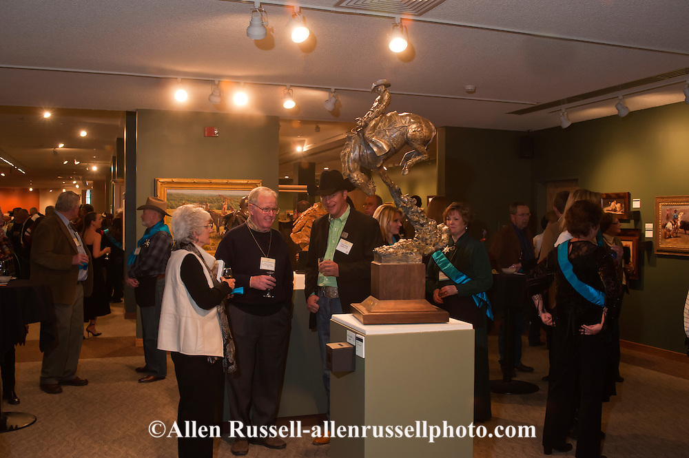 The Russell, C.M. Russell Museum Sale, Great Falls, Montana, 2011, sculptor Greg Kelsey discusses his sculpture Tryin to Collect a Buck.