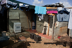 May 12, 2020, Johannesburg, Gauteng, South Africa: Due the current lock down in South Africa,  many children goes to bad without food. A child stands in front of his house at Diepsloot, Johannesburg on 12th  May 2020. (Credit Image: © Manash Das/ZUMA Wire)