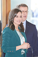 Queen Letizia of Spain attends the Proclamation of the winner of the '2020 Princess of Girona Foundation' Social category at Agora sociocultural center on February 28, 2020 in A Coruna, Spain