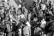 Protestors dance on the road, Reclaim the Streets, Shepherd's Bush, London, July 1996