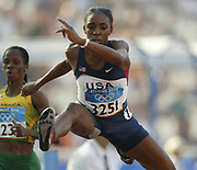 Lashinda Demus of the United States placed fifth in women's 400-meter hurdle semifinal in 54.32 in the 2004 Olympics in Athens, Greece on Sunday, August 22, 2004.