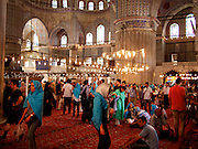Tourists at Blue Mosque, Istanbul