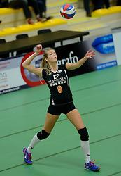 30-12-2014 NED: Eurosped Volleybal Experience Finale Dynamo Tubbergen - Eurosped TVT, Almelo<br /> Een vrij eenvoudige overwinning voor Eurosped die binnen een uur de Twinsense Twente Cup binnen haalde /Jilke Rikhof #8