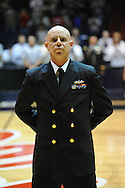 "Military personnel are recognized on Veterans Day at the C.M. ""Tad"" Smith Coliseum in Oxford, Miss. on Friday, November 11, 2011. Ole Miss won 60-38 in the season opener over Louisiana Monroe."